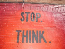 stop.think. by sarcasmo