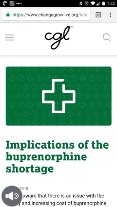 """Implications of the buprenorphine shortage"""
