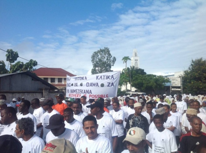 Africa Rally Against Drugs in Zanzibar